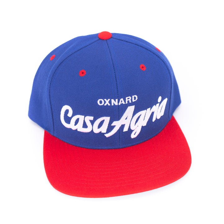 Classic Snapback: Royal & Red