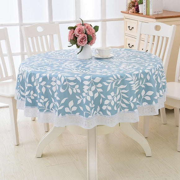 Flower Style Round Table Cloth