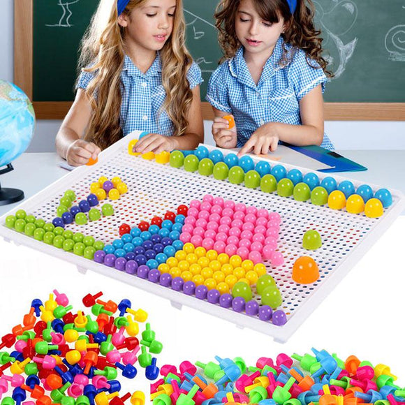 Mosaic Peg Board Educational Toys