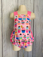Load image into Gallery viewer, Cupcakes ruffle romper