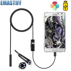 7mm Endoscope Camera Flexible IP67 Waterproof Micro USB Inspection