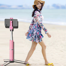 Load image into Gallery viewer, Portable Bluetooth Tripod  Selfie Stick
