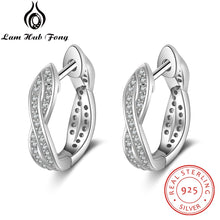 Load image into Gallery viewer, Classic Real 925 Sterling Silver Hoop Earrings