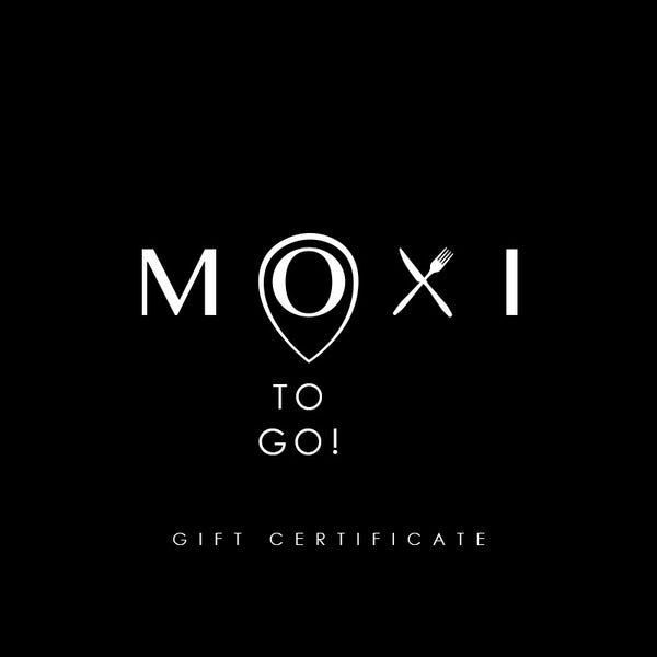 Certificado de regalo de Moxi to Go