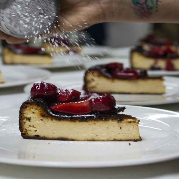 Burnt Cheesecake with Berries
