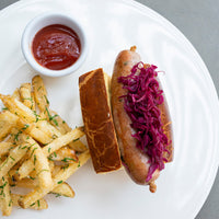 Hot Dog with Truffle Fries