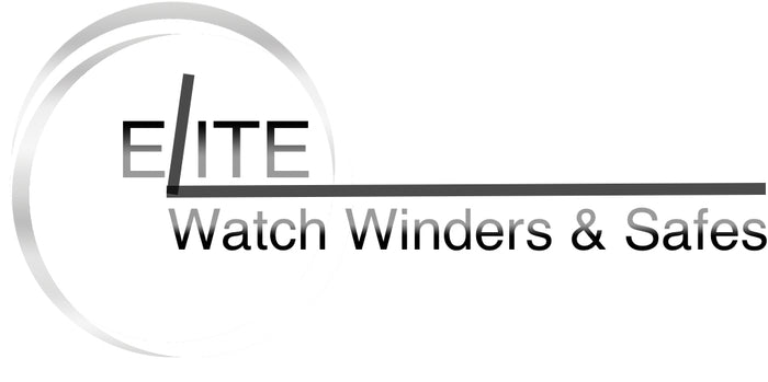 Elite Watch Winders and Safes logo. At Elite Watch Winders and Safes we offer a discerning choice of automatic watch winders, watch boxes, watch cases and accessories.  We are also an online retailer of WOLF watch winder cabinets and safes.