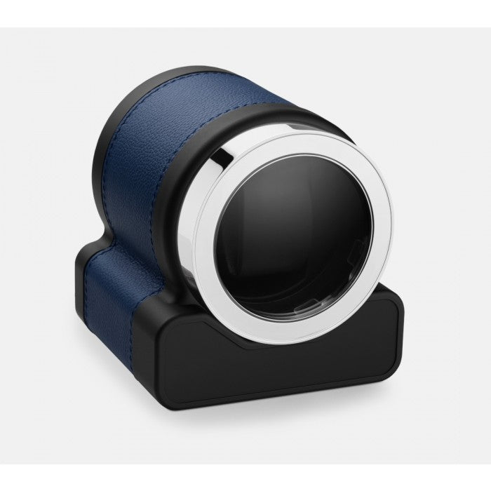 Scatola del Tempo Rotor One Blue Leather Single Watch Winder