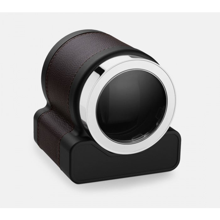 Scatola del Tempo Rotor One Chocolate Leather Single Watch Winder