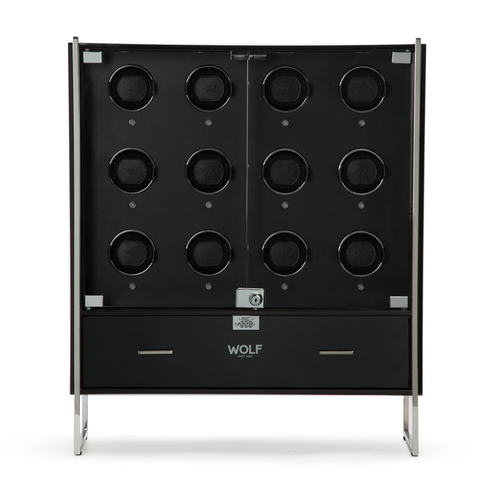 WOLF 1834 - Regent 12 Piece Watch Winder Cabinet in Black