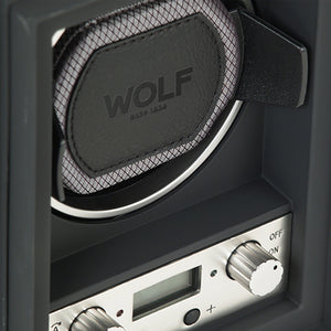 WOLF Module 4.1 (454011) Single watch winder detail view. Elite Watch Winders and Safes (www.elitesafes.co.uk)