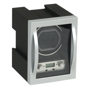 WOLF Module 4.1 (454011) Single watch winder front view. Elite Watch Winders and Safes (www.elitesafes.co.uk)