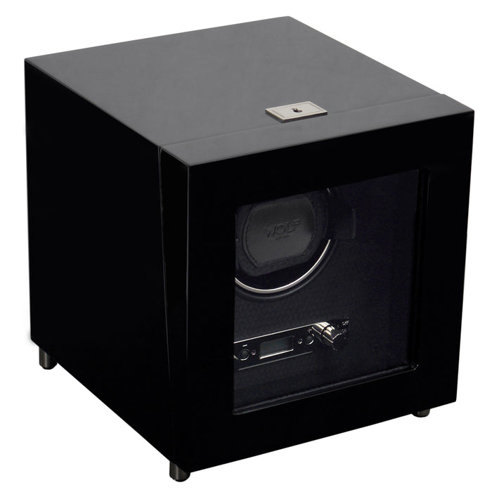 WOLF Savoy Black Single Watch Winder