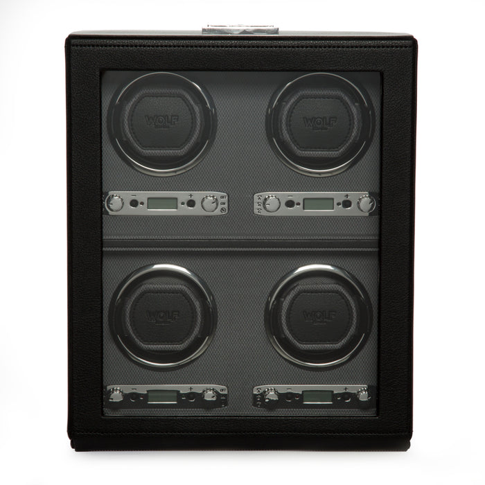 WOLF Viceroy Black Quad Watch Winder