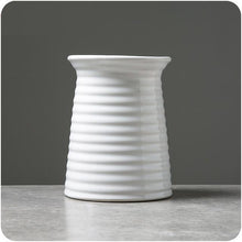 Load image into Gallery viewer, Classic White Ceramic Vase