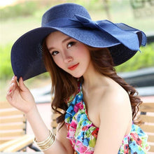 Load image into Gallery viewer, Summer Large Brim Straw Hat