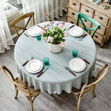 Load image into Gallery viewer, Linen Nordic Solid Tablecloths