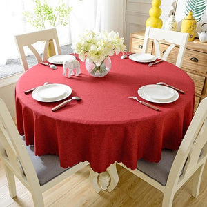 Linen Nordic Solid Tablecloths