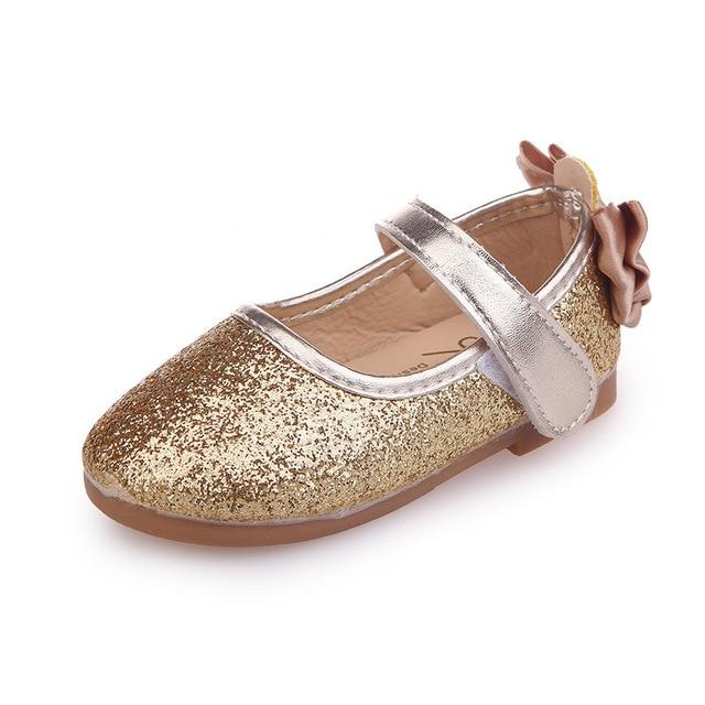 Mumoresip Glitter Leather Girls Shoes