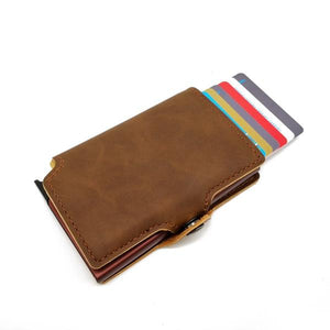 Leather Cards Case Mini Wallet