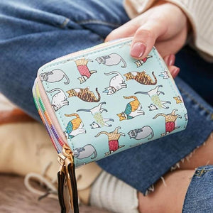 Printing Women Cat Wallet