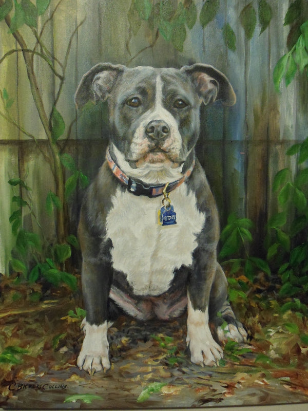 Custom Pet Portrait in Oil (Full Body & Landscape)