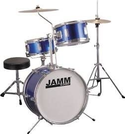 Jamm 300 3-Piece Beginner Drum Set - Metallic Blue