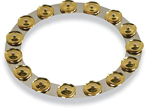 Latin Percussion 14-inch Tambo-Ring - Stainless Steel with Brass Jingles
