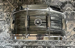 "Gretsch 6.5"" x 14"" Brooklyn Series Nitron Wrap and Micro Sensitive Throw-Off - Grey Oyster"