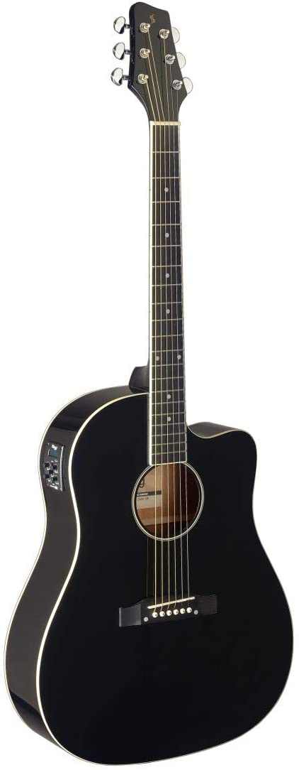 Stagg 6-String Acoustic-Electric Guitar - Black