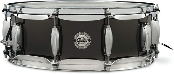Gretsch Drums Black Nickel Over Steel Snare Drum - 5 x 14 inch with Imperial Lugs