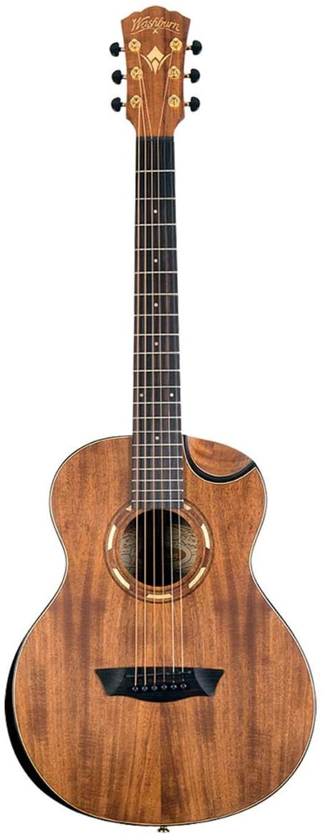 Washburn Comfort G-Mini 55 Koa Travel Size Acoustic Guitar