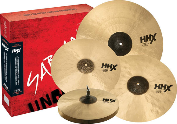 Sabian HHX Complex Promotional Cymbal Set with Free 18