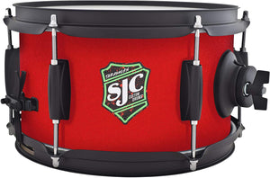 SJC Custom Drums Thrash Can Side Snare Drum - 6 x 10 inch - Red Grip Tape Wrap