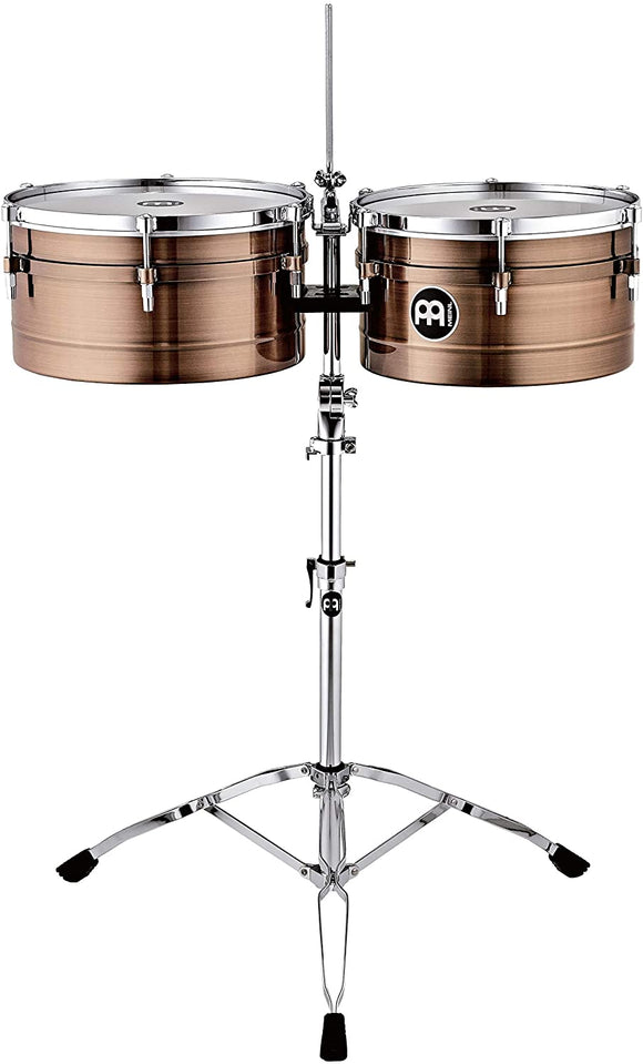 "Meinl Percussion Timbales, Amadito Valdes Signature  14"" and 15"" - Antique Bronze Finish"