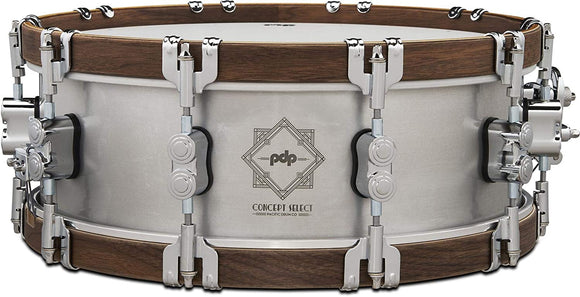 PDP Concept Select Aluminum Snare Drum - 5 x 14 inch (PDSN0514CSAL)