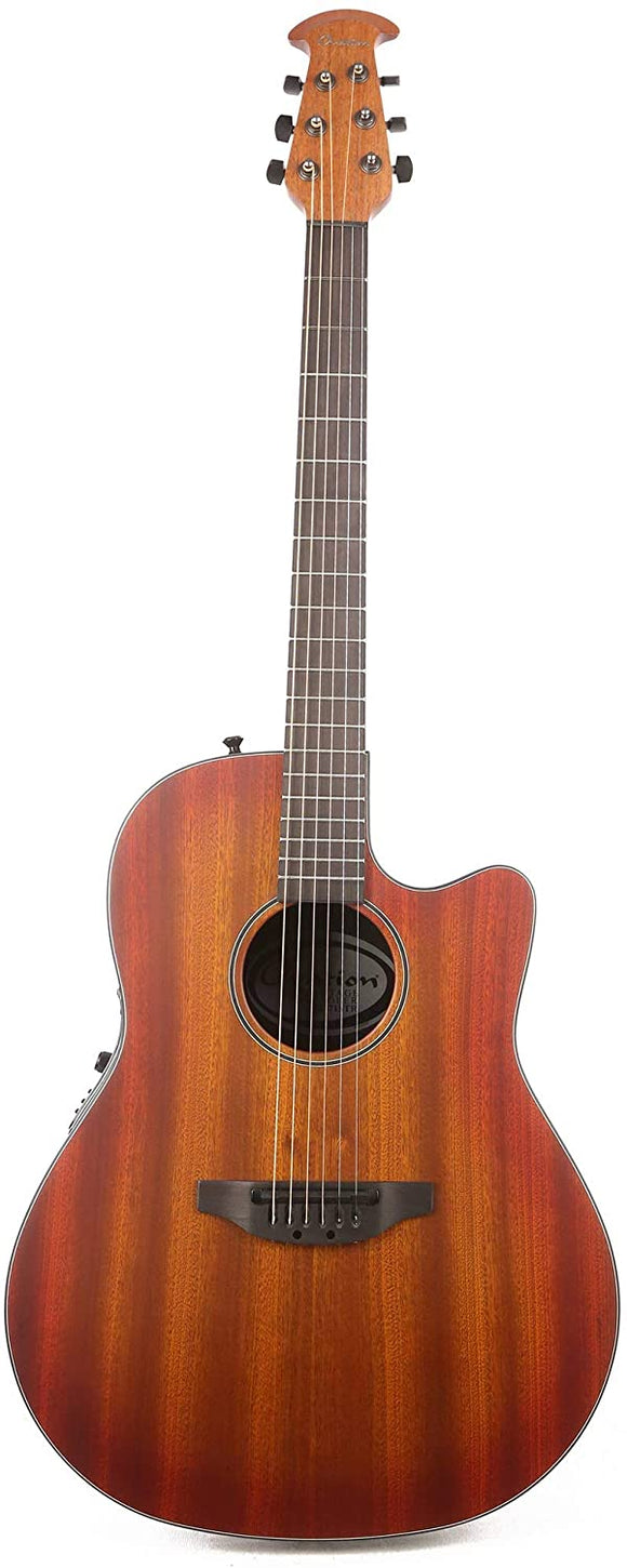 Ovation Main Street Balladeer Acoustic Electric Guitar Mahogany Burst with Bag