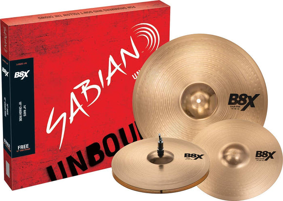 Sabian B8X Performance Cymbal Set with Free 14