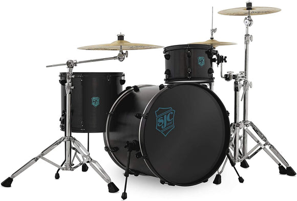 SJC Custom Drums Pathfinder Series 3-Piece Shell Pack - Black Satin