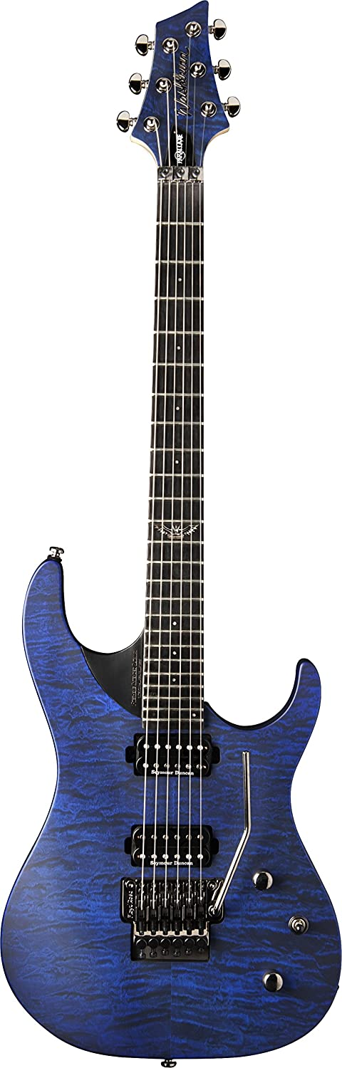 Washburn 6 String Solid-Body Electric Guitar - Quilt Trans Blue Burst