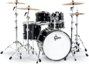 "Gretsch Drums Renown 5-pc Shell Pack with 22"" Kick and Snare Drum - Piano Black"