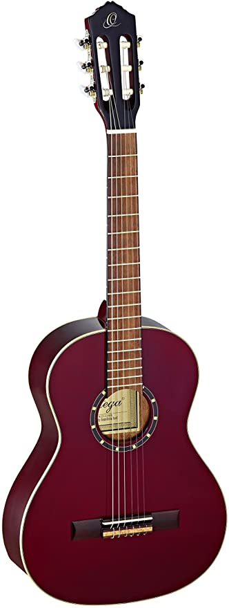 Ortega Family Series R121-3/4WR 3/4 Size Classical Guitar Transparent Wine Red 0.75