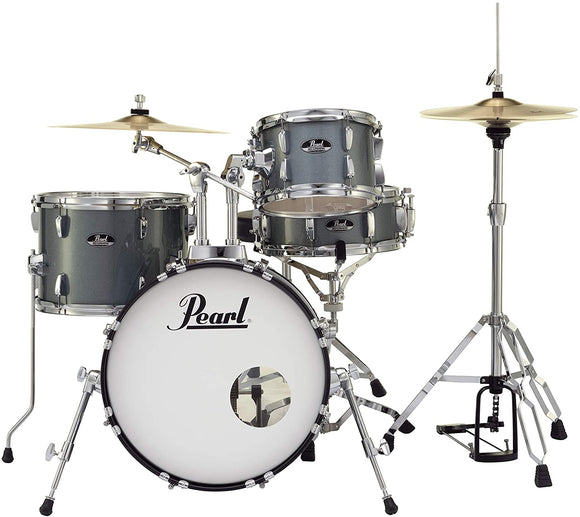 Pearl Roadshow 4-Piece Drum Set, Charcoal Metallic (RS584C/C706)