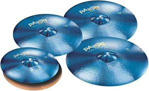 "Paiste Color Sound 900 Series Medium Cymbal Set Extended Even w/Free 16"" Crash (Blue)"
