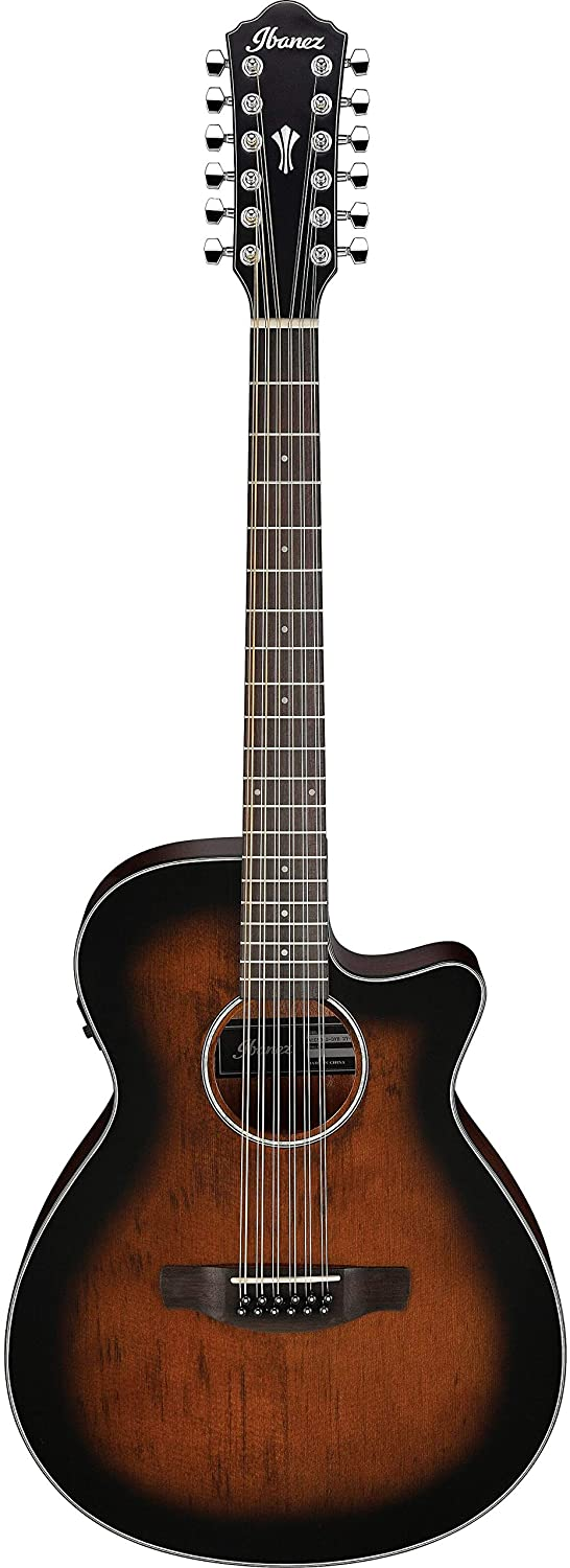 Ibanez AWG5012 12-String Acoustic-Electric Guitar (Dark Violin Sunburst)
