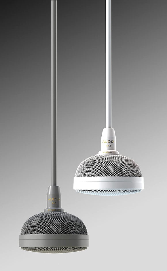 Audix M3W Tri-Element Hanging Ceiling Microphone (White)