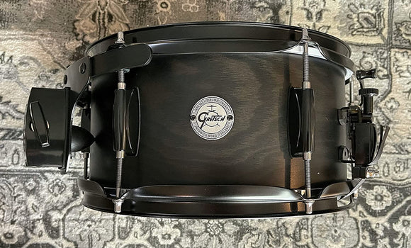 "Gretsch Drums Silver Series Ash Side Snare Drum with Black Hardware 12X6"" - Satin Ebony"