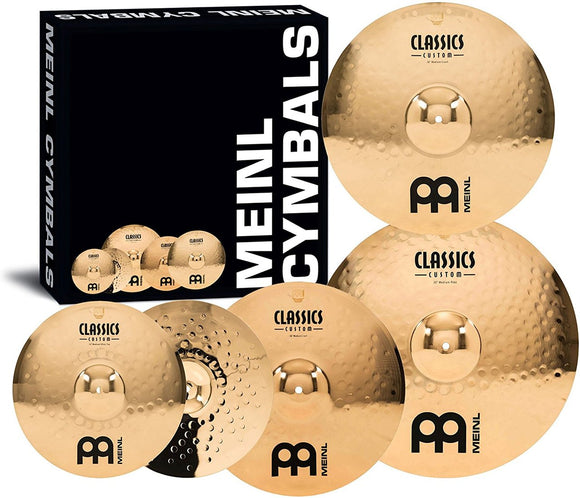 Meinl Cymbals Classics Custom Medium Cymbal Box Set - Free 18