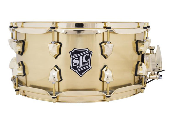SJC Custom Drums Alpha Brass Snare Drum - 6.5