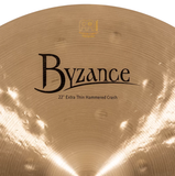 "Meinl Byzance Traditional 22"" Extra Thin Hammered Crash Cymbal"